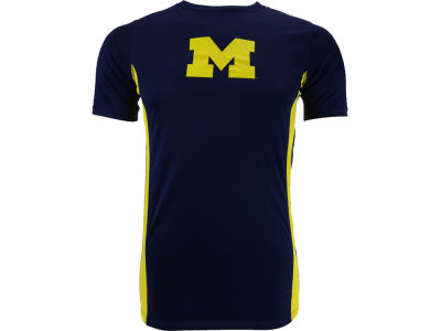 Michigan Wolverines NCAA Dime Back Poly T-Shirt