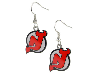 New Jersey Devils Logo Earrings