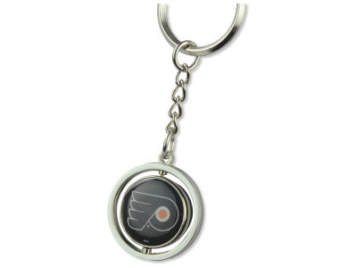 Philadelphia Flyers Rubber Puck Spinning Key Ring