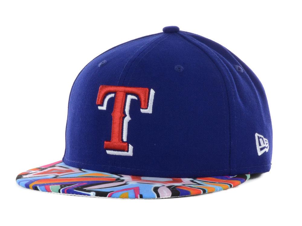 7a0fb769 Texas Rangers New Era MLB Visor Real Graffiti 59FIFTY Cap | lids.com