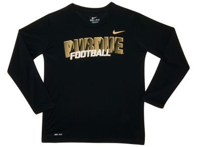 Purdue Boilermakers NCAA Youth Long Sleeve Dri-Fit T-Shirt