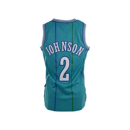 Charlotte Hornets Larry Johnson Adidas NBA Men's Retired Player Swingman Jersey