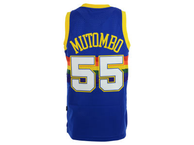 Denver Nuggets Dikembe Mutombo adidas NBA Retired Player Swingman Jersey