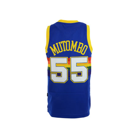 Denver Nuggets Dikembe Mutombo Adidas NBA Men's Retired Player Swingman Jersey