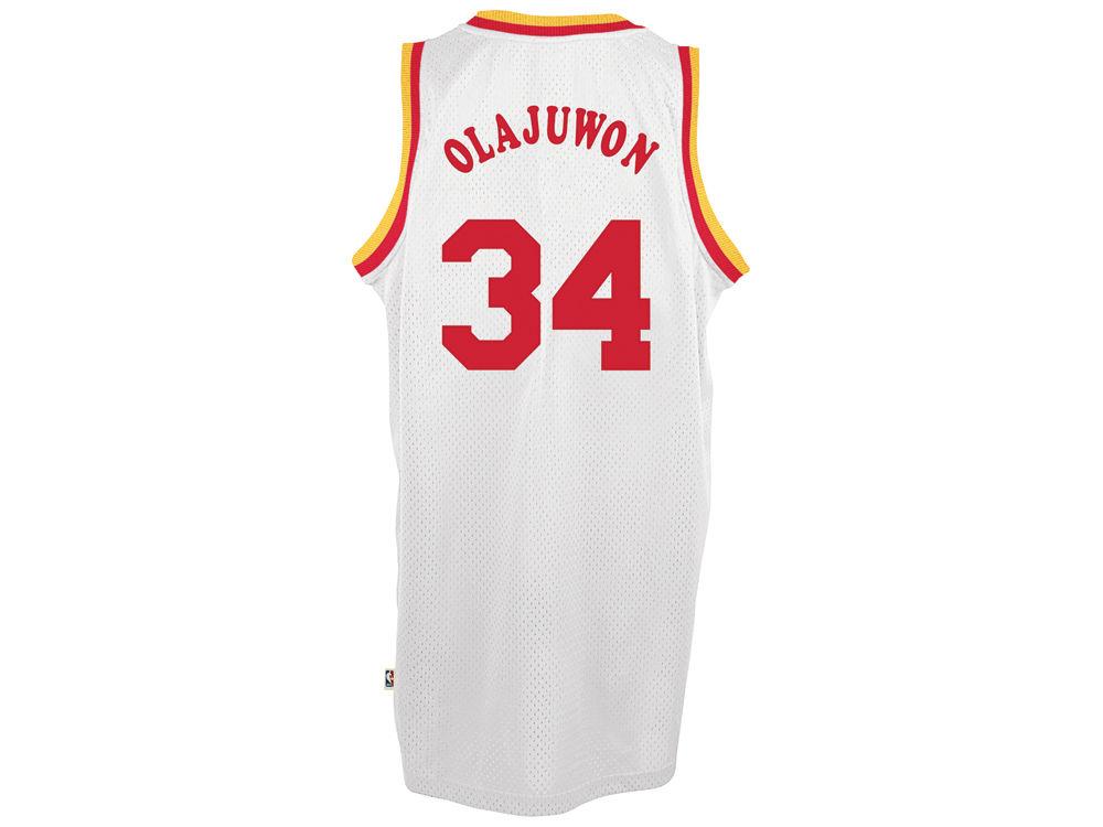 757423777 Houston Rockets Hakeem Olajuwon adidas NBA Men s Retired Player Swingman  Jersey
