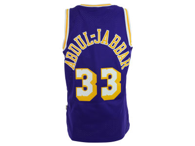 Los Angeles Lakers Kareem Abdul-Jabbar adidas NBA Men's Retired Player Swingman Jersey