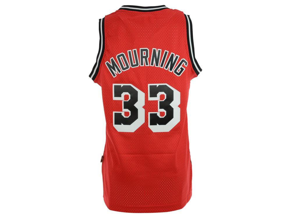 1677d7de686 real miami heat alonzo mourning adidas nba mens retired player swingman  jersey 8079b b36b9