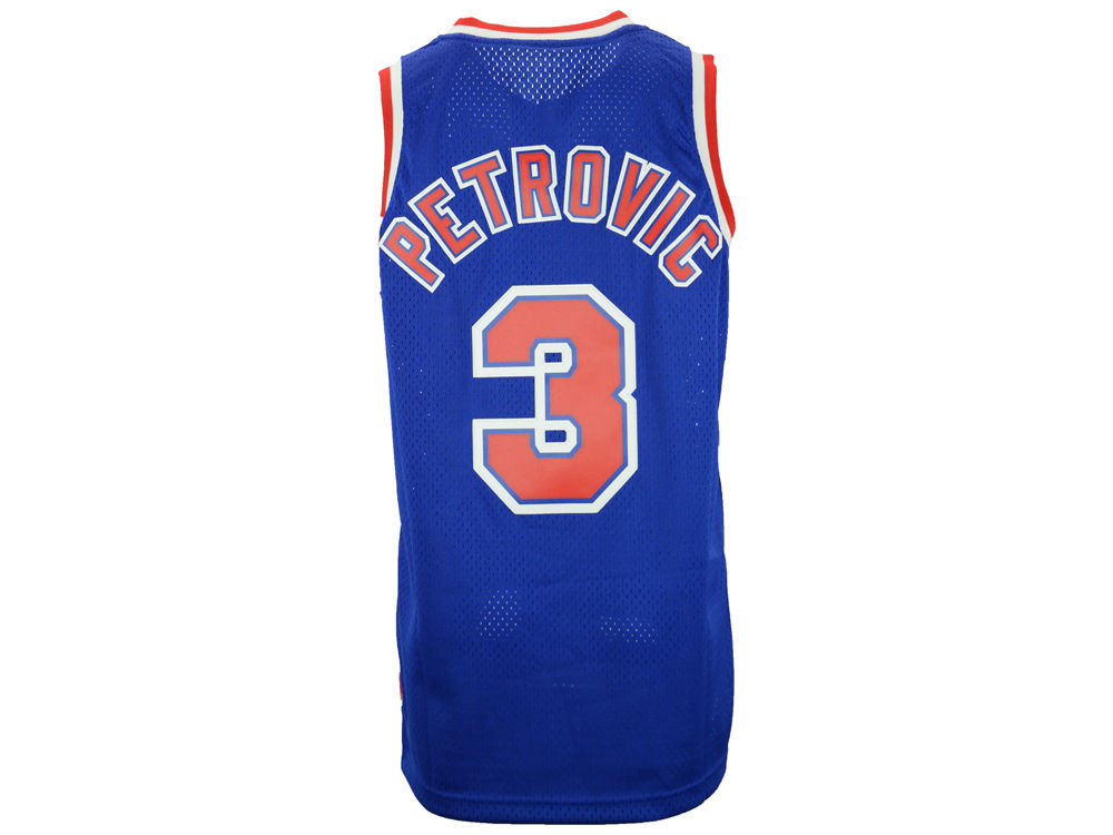 New Jersey Nets Drazen Petrovic adidas NBA Men s Retired Player Swingman  Jersey  3abc1c34e