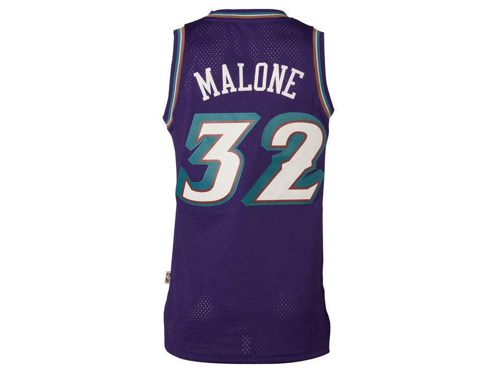 87ed33d7b ... Utah Jazz Karl Malone adidas NBA Mens Retired Player Swingman Jersey ...