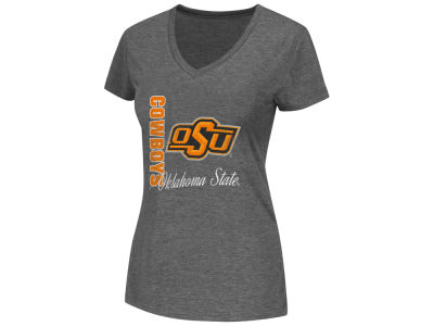 Oklahoma State Cowboys NCAA Womens Lancer V Neck T-Shirt