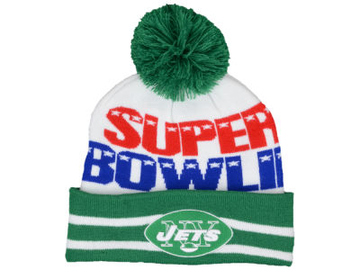 New York Jets New Era NFL Super Bowl Super Wide Point Knit