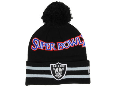Oakland Raiders New Era NFL Super Bowl Super Wide Point Knit