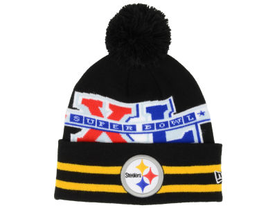 Pittsburgh Steelers New Era NFL Super Bowl Super Wide Point Knit