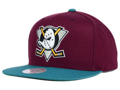 Anaheim Ducks Mitchell and Ness NHL Mighty Ducks Collection Snapback Cap