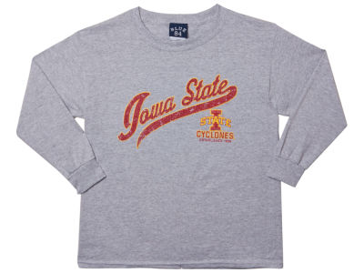 Iowa State Cyclones Blue 84 NCAA Youth Captain Long Sleeve T-Shirt