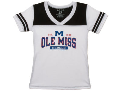 Ole Miss Rebels Blue 84 NCAA Youth Girls Bragster T-Shirt