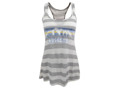 Denver Nuggets NBA Womens Striped Racerback Tank