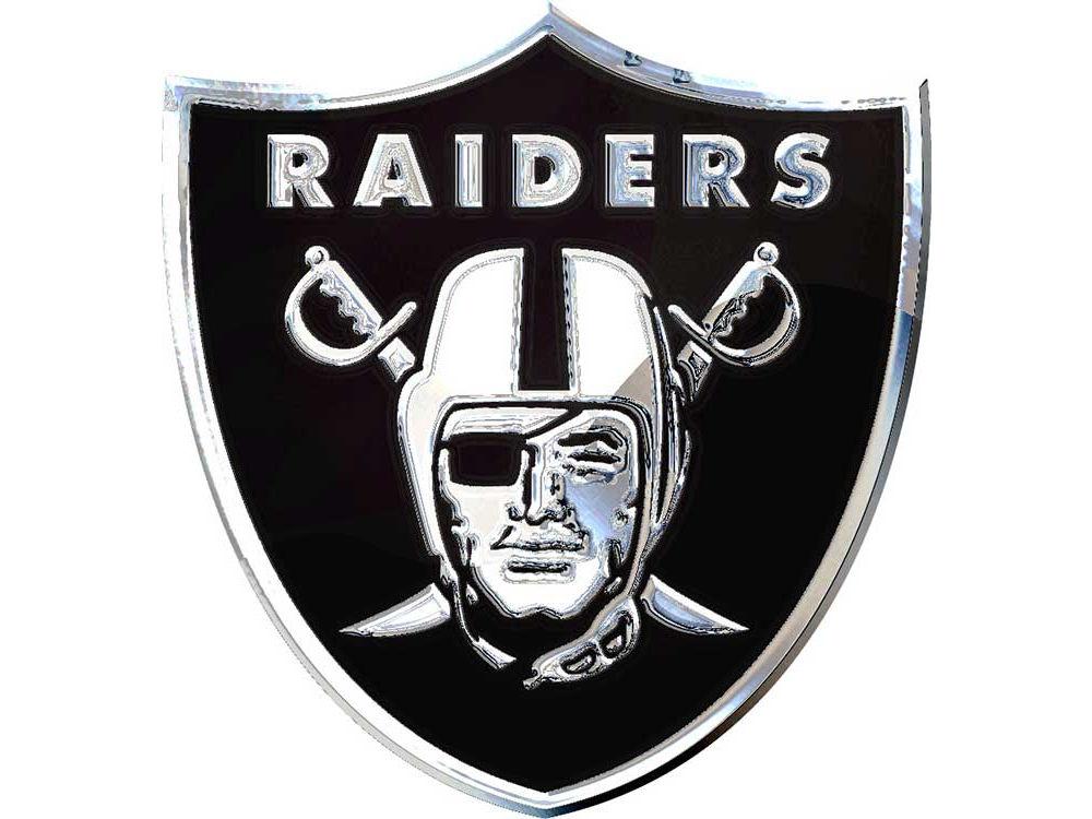 oakland raiders stockdale metal auto emblem