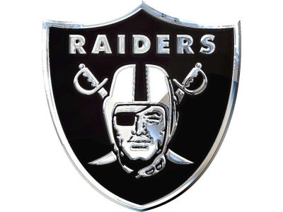 Oakland Raiders Metal Auto Emblem