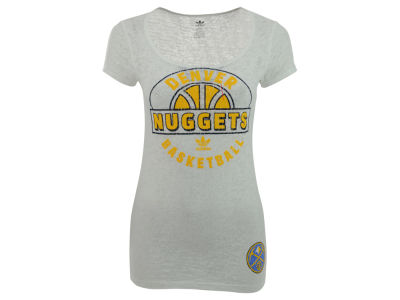 Denver Nuggets adidas NBA Womens Scoop Burnout T-Shirt