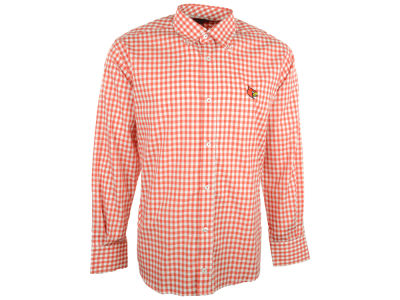 Louisville Cardinals NCAA Men's Gingham Button Up Shirt