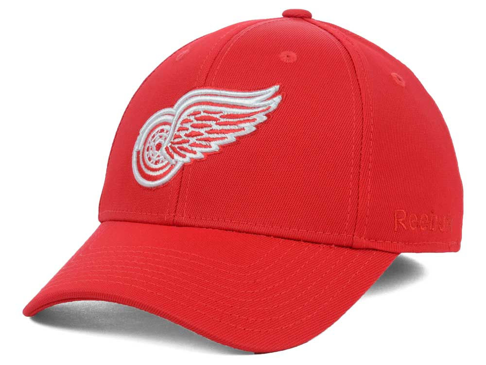 detailed look 79adf 4e44c Detroit Red Wings Reebok NHL Hat Trick 2.0 Cap   lids.com