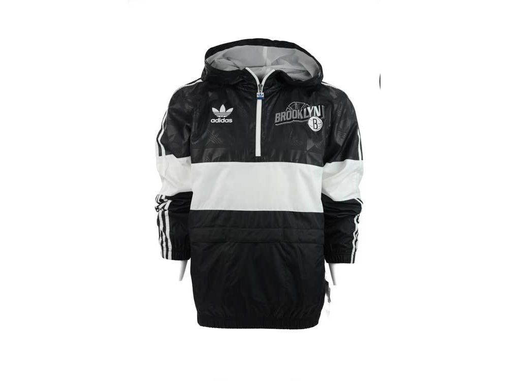 Brooklyn Nets adidas NBA Woven Quarter Zip Pullover Jacket | lids.com