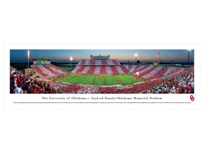 Oklahoma Sooners Panoramic Deluxe Framed