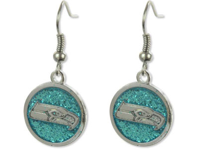 Seattle Seahawks Glitter Dangle Earrings Aminco