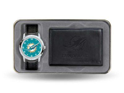 Miami Dolphins Watch and Wallet Gift Set