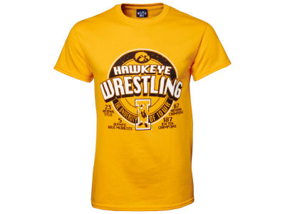 Iowa Hawkeyes NCAA Title Wrestling T-Shirt
