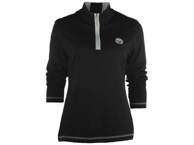 Pittsburgh Steelers NFL Womens Drytec Choice Zip Mock