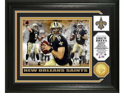 New Orleans Saints Drew Brees Highland Mint Photo Mint Coin-Bronze