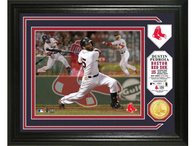 Boston Red Sox Dustin Pedroia Photo Mint Coin-Bronze