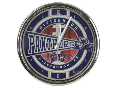 Pittsburgh Panthers Chrome Clock