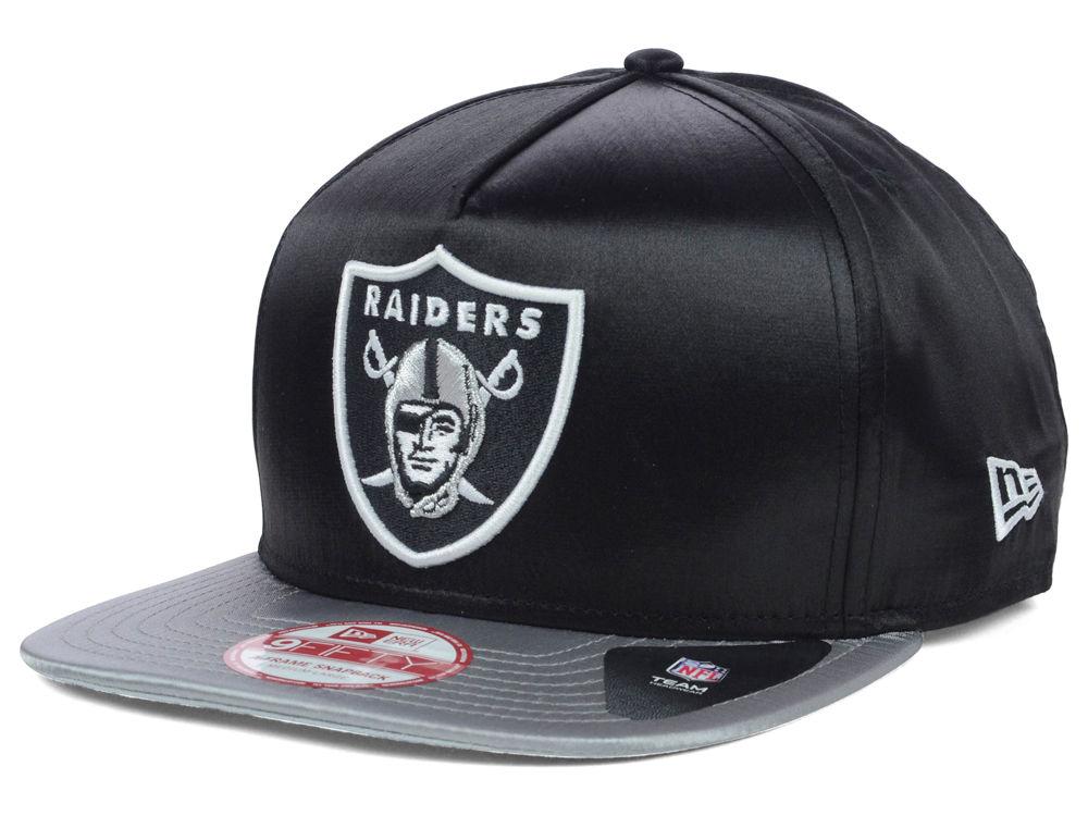 Oakland Raiders New Era NFL Team Satin A-Frame 9FIFTY Snapback Cap ... 739d3eb8d
