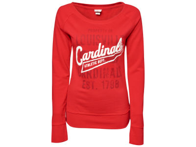 Louisville Cardinals NCAA Ladies Paige Scoop Crew Sweatshirt