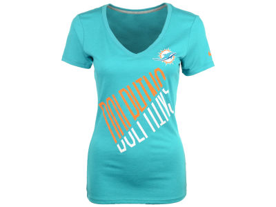 Miami Dolphins Nike NFL Womens Faster Mid V T-Shirt