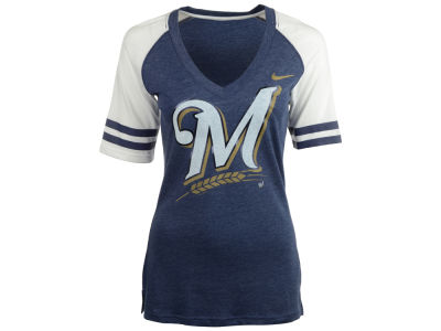 Milwaukee Brewers Nike MLB Women's Logo Fan Shirt