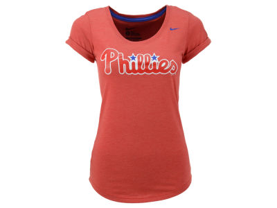 Philadelphia Phillies Nike MLB Women's Logo Scoop T-Shirt