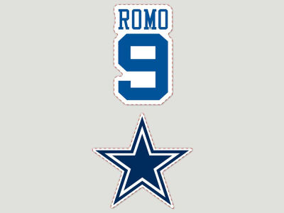 Dallas Cowboys 2-pack 4x4 Die Cut Decal