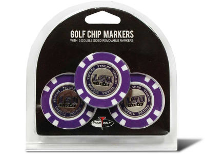 LSU Tigers Golf Poker Chip Markers 3 Pack
