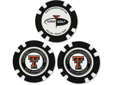 Texas Tech Red Raiders Golf Poker Chip Markers 3 Pack