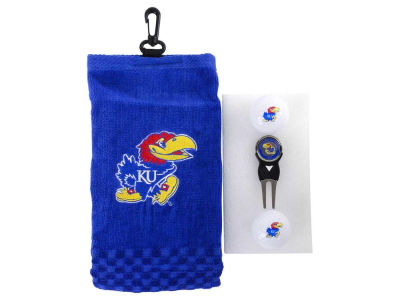 Kansas Jayhawks Golf Towel Gift Set