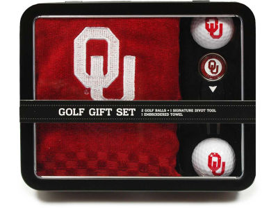 Oklahoma Sooners Golf Towel Gift Set