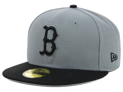 Boston Red Sox New Era MLB FC Gray Black 59FIFTY Cap
