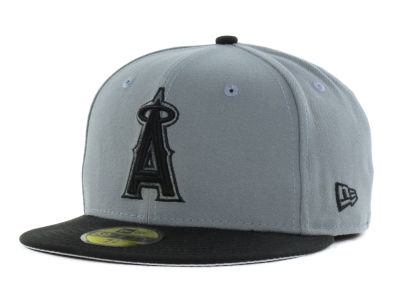 Los Angeles Angels New Era MLB FC Gray Black 59FIFTY Cap