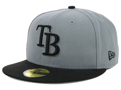 Tampa Bay Rays New Era MLB FC Gray Black 59FIFTY Cap