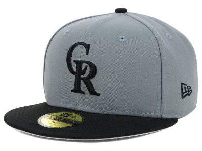 Colorado Rockies New Era MLB FC Gray Black 59FIFTY Cap