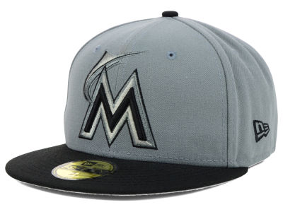 Miami Marlins New Era MLB FC Gray Black 59FIFTY Cap